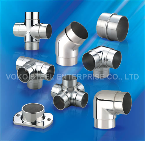 Voko steel handrail fittings